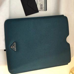 Prada Ipad Teal Blue Ottanio Case